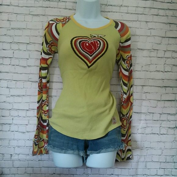 8977c5485f0 Lucky Brand Tops - LUCKY BRAND love dove retro thermal